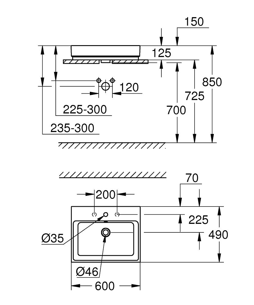 3947700H Dimensions