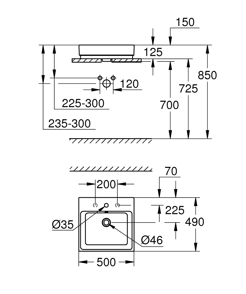 3947800H Dimensions
